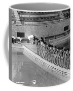 Lineup Of Ncaa Men Swimmers Coffee Mug