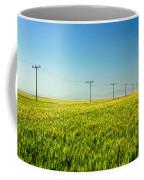 Lining A Sea Of Green Coffee Mug