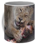 Lion Eating Coffee Mug