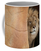 Lion Emerging    Captive Coffee Mug