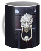 Lion Head Door Knocker Coffee Mug
