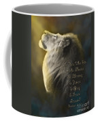 Lion On The Throne In Aqua Coffee Mug by Constance Woods