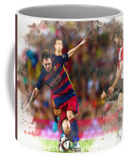 Lionel Messi  Fights For The Ball Coffee Mug