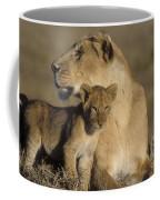 Lioness And Her Cub  Coffee Mug
