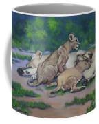 Lioness With Cubs Coffee Mug