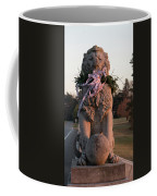Lions Statue With Ribbon Coffee Mug