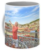 Lisbon Aerial Enjoying Coffee Mug