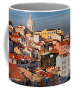 Lisbon Cityscape In Portugal At Sunset Coffee Mug