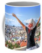 Lisbon Panorama Enjoying Coffee Mug