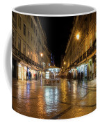 Lisbon Portugal Night Magic - Nighttime Shopping In Baixa Pombalina Coffee Mug