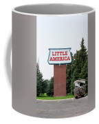 Little America Hotel Signage Vertical Coffee Mug