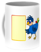 Little Bird With Message Board Coffee Mug