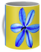 Little Blue Flower On A Yellow Background Coffee Mug