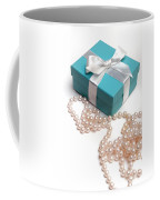 Little Blue Gift Box And Pearls Coffee Mug
