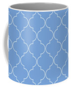 Little Boy Blue Quatrefoil Coffee Mug
