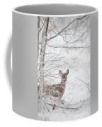 Little Doe In Snow Coffee Mug