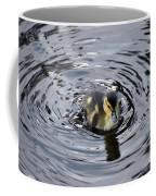 Little Duckling Goes For A Swim Coffee Mug