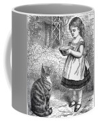 Little Girl Gives Her Cat Its Dinner Coffee Mug