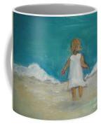 Little Girl Playing On Beach Coffee Mug