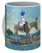 Little Girl With A Blue Bonnet Coffee Mug