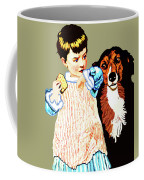 Little Girl With Hungry Mutt Coffee Mug