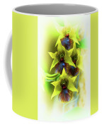 Little Green Apple Orchid On White Coffee Mug