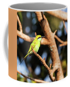 Little Green Bee Eater On A Branch Coffee Mug