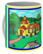 Little House On The Green Coffee Mug by Snake Jagger