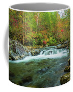 Little Pigeon River Flows In Autumn In The Smoky Mountains Coffee Mug