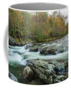 Little Pigeon River In Autumn In Smoky Mountains In Autumn Coffee Mug