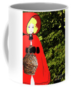 Little Red Riding Hood In The Forest Coffee Mug
