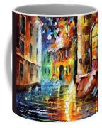 Little Street - Palette Knife Oil Painting On Canvas By Leonid Afremov Coffee Mug