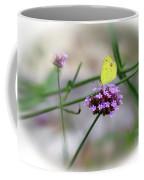 Little Yellow Butterfly On Verbena Coffee Mug