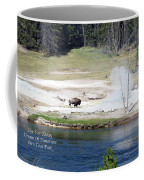 Live Dream Own Yellowstone Park Bison Text Coffee Mug