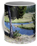 Live Dream Own Yellowstone Park Elk Herd Text Coffee Mug