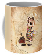 Live Music Pinup Singer Performing On Gig Guide Coffee Mug