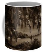 Live Oak Tree Spanigh Moss Sepia Silhouette Coffee Mug