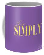 Live Simply Gold Lavender Coffee Mug