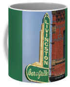 Livingston Bar And Grill Old Neon Sign Montana Coffee Mug