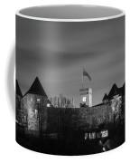 Ljubljana Castle In Black And White Coffee Mug