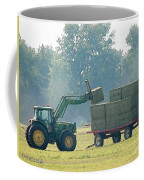 Loading Hay At Dusk Coffee Mug