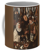 Loarte, Alejandro De Madrid , 1590 - Toledo, 1626 The Poultry Vendor 1626. Coffee Mug