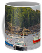 Lobster Boats In Bar Harbor Coffee Mug by Jack Schultz