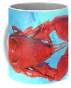 Lobster On Turquoise Coffee Mug
