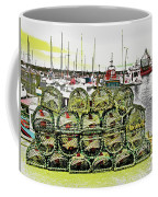 Lobster Pots Kilmore Quay, Wexford, Ireland Poster Effect 1b Coffee Mug
