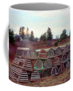 Lobster Traps Coffee Mug by Jeff Kolker