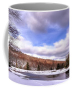 Lock And Dam Snowscape Coffee Mug