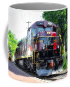 Locomotive In Color Coffee Mug