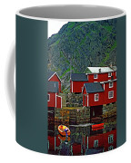 Lofoten Fishing Huts Oil Coffee Mug