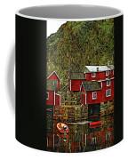 Lofoten Fishing Huts Overlay Version Coffee Mug